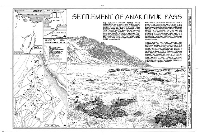 HABS AK-196 (sheet 1 of 1) - Anaktuvuk Pass Settlement Site, Privately owned land within boundaries of Gates of Arctic National Park & Preserve, Anaktuvuk Pass, North Slope Borough, AK