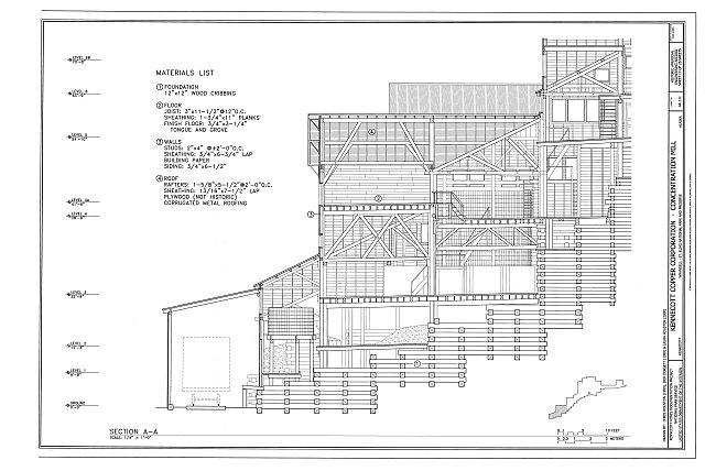Section A-A - Kennecott Copper Corporation, Concentration Mill, On Copper River & Northwestern Railroad, Kennicott, Valdez-Cordova Census Area, AK