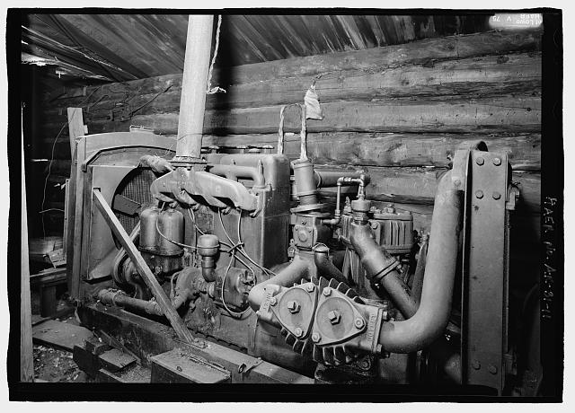 11.  Air compressor interior of machine ship, Ingersoll Rand NY-USA - Stampede Gold Mine, Kantishna, Denali Borough, AK
