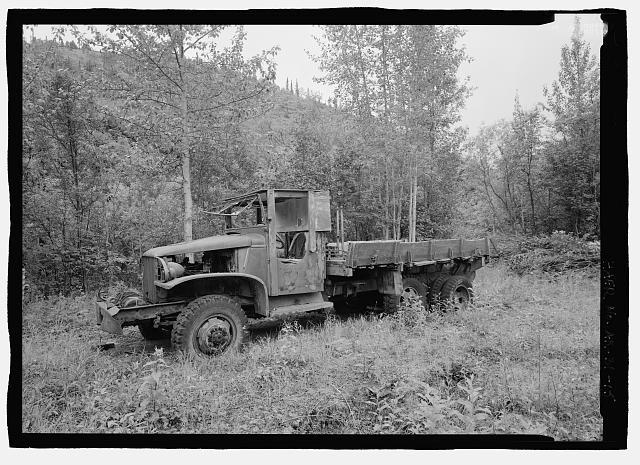 15.  World War II vintage truck next to machine shop - Stampede Gold Mine, Kantishna, Denali Borough, AK