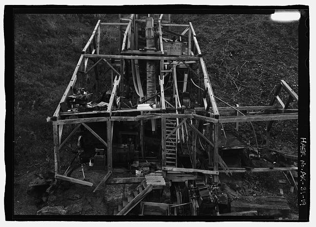 19.  Lower section of mill from helicopter - Stampede Gold Mine, Kantishna, Denali Borough, AK