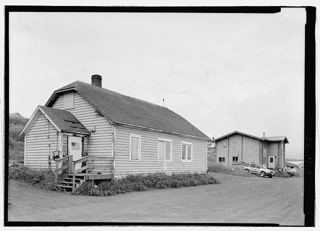 Front view, looking northwest - Fisheries Office Building, Tolstoi Boulevard, Saint Paul, Aleutians West Census Area, AK
