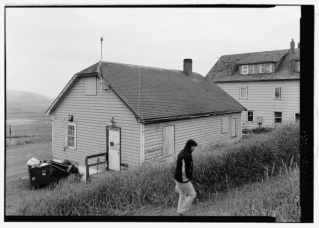Rear view, looking southeast  - Fisheries Office Building, Tolstoi Boulevard, Saint Paul, Aleutians West Census Area, AK