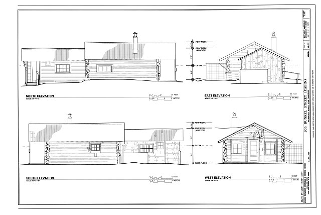 Elevations - 105 Dunkel Street (Cabin), 105 Dunkel Street, Fairbanks, Fairbanks North Star Borough, AK