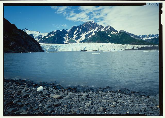 General view - Pederson Lagoon and Glacier, Seward, Kenai Peninsula Borough, AK