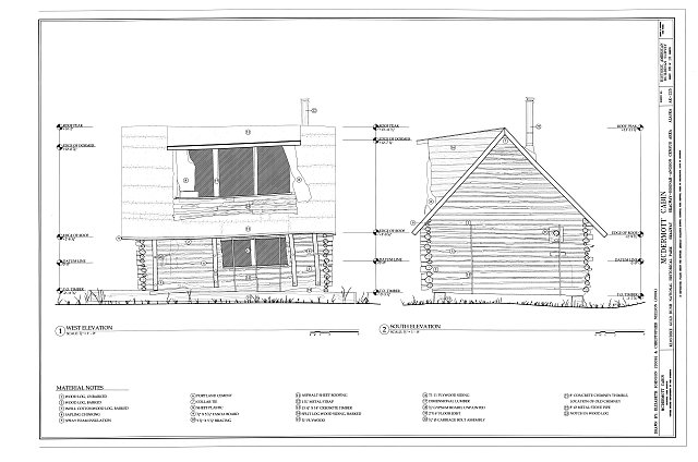 West & South Elevations - McDermott Cabin, Town of Dyea (historical town site), Skagway, Skagway-Hoonah-Angoon Census Area, AK