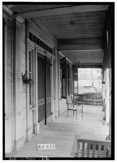 3.  Historic American Buildings Survey W. N. Manning, Photographer, March 26, 1935 FRONT DOOR TREATMENT (WEST) - Thomas Avery Fay House, 203 Washington Street, Prattville, Autauga County, AL