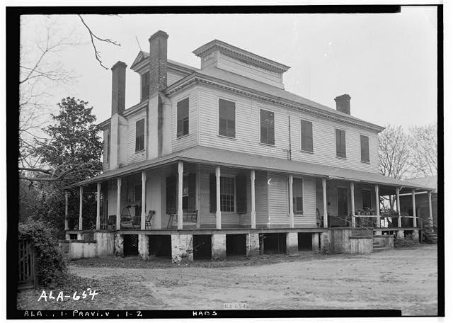 2.  Historic American Buildings Survey W. N. Manning, Photographer, March 26, 1935 REAR AND SIDE VIEW N.E. - Pope-Golson House, 815 Shadow Lane (moved from original location), Prattville, Autauga County, AL
