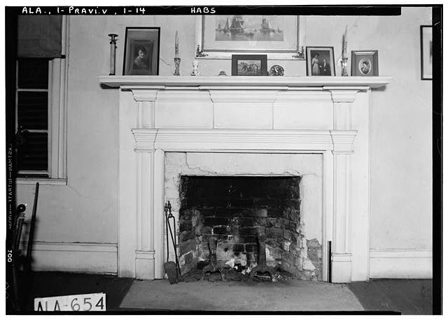 14.  Historic American Buildings Survey W. N. Manning, Photographer, March 26, 1935 MANTEL IN S.W. BED ROOM UPSTAIRS - Pope-Golson House, 815 Shadow Lane (moved from original location), Prattville, Autauga County, AL