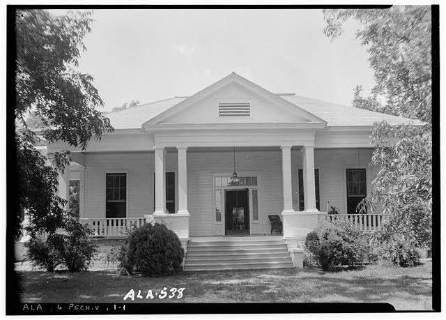 1.  Historic American Buildings Survey W. N. Manning, Photographer, July 17, 1935. FRONT VIEW (SOUTH) - Senator Thomas Sidney Frazier House, County Road 40, Peachburg, Bullock County, AL