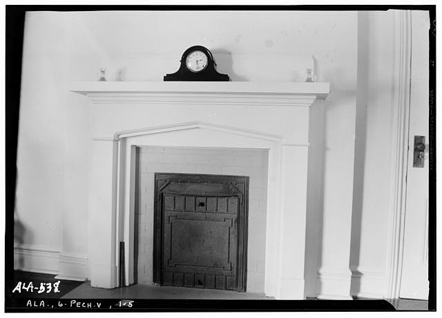 5.  Historic American Buildings Survey W. N. Manning, Photographer, July 17, 1935. MANTEL IN N. E. BED ROOM - Senator Thomas Sidney Frazier House, County Road 40, Peachburg, Bullock County, AL