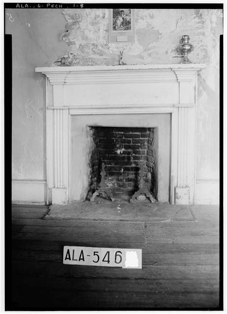 9.  Historic American Buildings Survey W. N. Manning, Photographer, July 19, 1935. MANTEL IN N. W. ROOM. - Seale-Mosley House, County Road 40 (moved from original location), Peachburg, Bullock County, AL