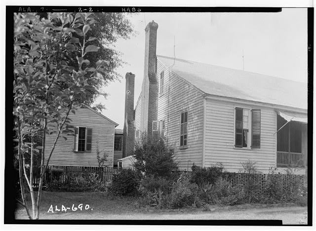 3.  Historic American Buildings Survey W. N. Manning, Photographer, June 12, 1935. PART OF FRONT AND OLD LAW OFFICE, NOW USED AS KITCHEN - Will Crenshaw Plantation (House), County Road 54, Greenville, Butler County, AL