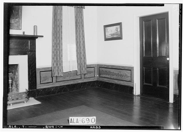 10.  Historic American Buildings Survey W. N. Manning, Photographer, June 12, 1935. DOOR TREATMENT AND PANELING IN LIVING ROOM - Will Crenshaw Plantation (House), County Road 54, Greenville, Butler County, AL