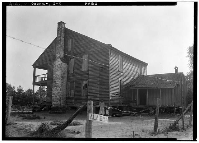 2.  Historic American Buildings Survey W. N. Manning, Photographer, June 12, 1935. REAR AND SIDE VIEW N.E. - Tavern & Stage Inn, County Road 58, Greenville, Butler County, AL