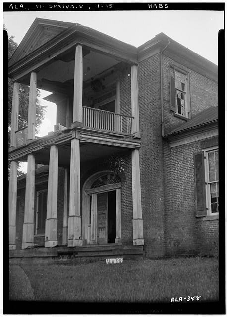 15.  Historic American Buildings Survey Alex Bush, Photographer, May 30, 1936 CLOSE-UP OF FRONT ELEVATION (NORTH) - Belmont, U.S. Highway 43, Spring Valley, Colbert County, AL