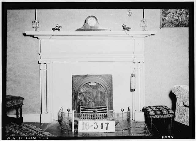 3.  Historic American Buildings Survey Feb. 1st, 1934. W. N. Manning, Photographer. MANTEL AND FIREPLACE. - Helen Keller House, 300 West North Commons, Tuscumbia, Colbert County, AL