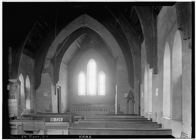 4.  Historic American Buildings Survey W. N. Manning, Photographer, March 17, 1934. INTERIOR (VIEW TOWARD FRONT) - WEST - St. Luke's Episcopal Church, (Moved from Cahaba, AL), Martin, Dallas County, AL
