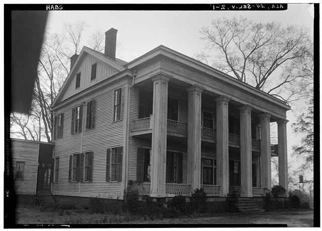 1.  Historic American Buildings Survey W. N. Manning, Photographer, March 23, 1934. FRONT VIEW. - Doctor Harper House, State Highway 219 & County Road 344, Selma, Dallas County, AL