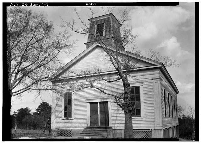 1.  Historic American Buildings Survey W. N. Manning, Photographer, March 23, 1934. FRONT ELEVATION. - Methodist Episcopal Church, College Street, Summerfield, Dallas County, AL