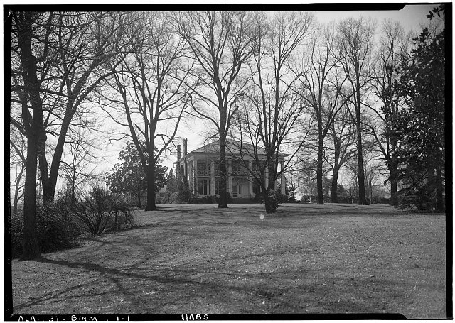 1.  Historic American Buildings Survey Alex Bush, Photographer, March 4, 1937 FRONT ELEVATION (GENERAL VIEW) - Arlington Place, 331 Cotton Avenue, Southwest, Birmingham, Jefferson County, AL