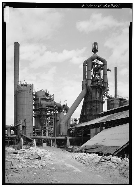 VIEW OF #1 BLAST FURNACE - Woodward Coal & Iron Company Furnace, Opossum Creek vicinity, Woodward, Jefferson County, AL