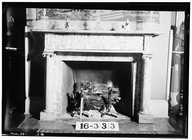 7.  Historic American Buildings Survey W. N. Manning, Photographer, Feb. 27, 1934. FIREPLACE AND MANTEL - LIVING ROOM. - Sweetwater, Sweetwater Avenue & Florence Boulevard, Florence, Lauderdale County, AL