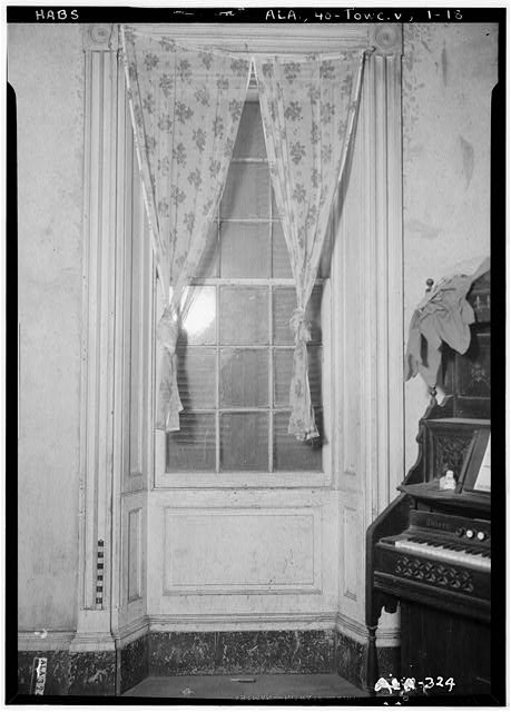 18.  Historic American Buildings Survey Alex Bush, Photographer, April 22, 1937 WINDOW IN SOUTH WALL OF LIVING ROOM - Saunders-Goode-Hall House, State Highway 101, Town Creek, Lawrence County, AL
