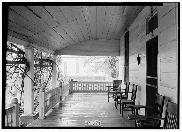 3.  Historic American Buildings Survey W. N. Manning, Photographer, March 28, 1935 VIEW ON FRONT PORCH - Dixon H. Lewis House, State Highway 97 (County Road 29), Lowndesboro, Lowndes County, AL