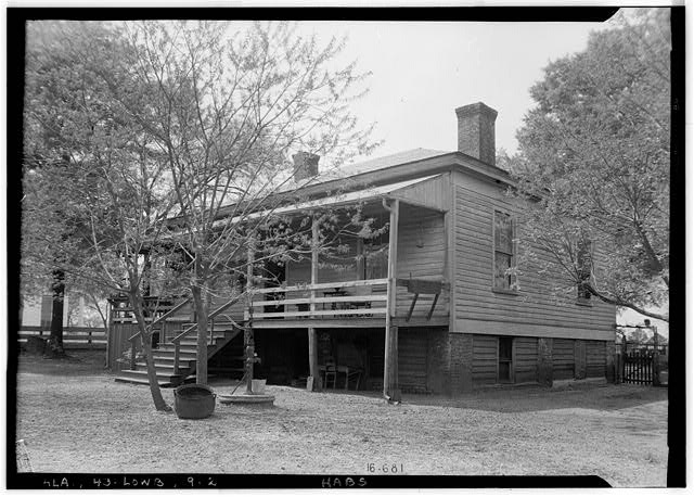 2.  Historic American Buildings Survey W. N. Manning, Photographer, March 29, 1935 REAR AND SIDE VIEW N.E. - Powell House, State Highway 97 (County Road 29), Lowndesboro, Lowndes County, AL