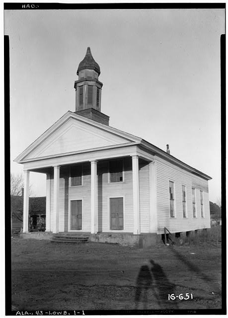 1.  Historic American Buildings Survey W. N. Manning, Photographer, March 18, 1934. FRONT ELEVATION. - Old Methodist Church, State Highway 97 (County Road 29), Lowndesboro, Lowndes County, AL
