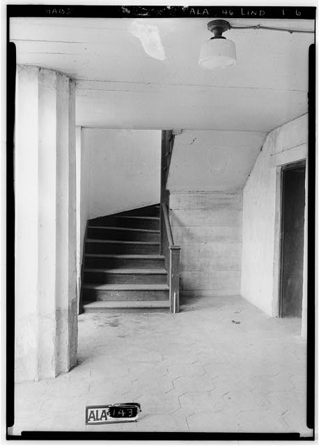 6.  Historic American Buildings Survey Alex Bush, Photographer, June 13, 1935 VIEW ON BASEMENT FLOOR AT FRONT OF BUILDING - Old Marengo County Courthouse, Cahaba Avenue & Mobile Street, Linden, Marengo County, AL