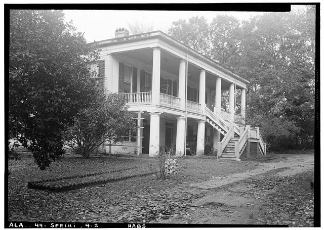 2.  Historic American Buildings Survey E. W. Russell, Photographer, January 14, 1937 EAST (FRONT) ELEVATION FROM SOUTH SIDE - Azalea Grove, 55 South McGregor Avenue, Spring Hill, Mobile County, AL
