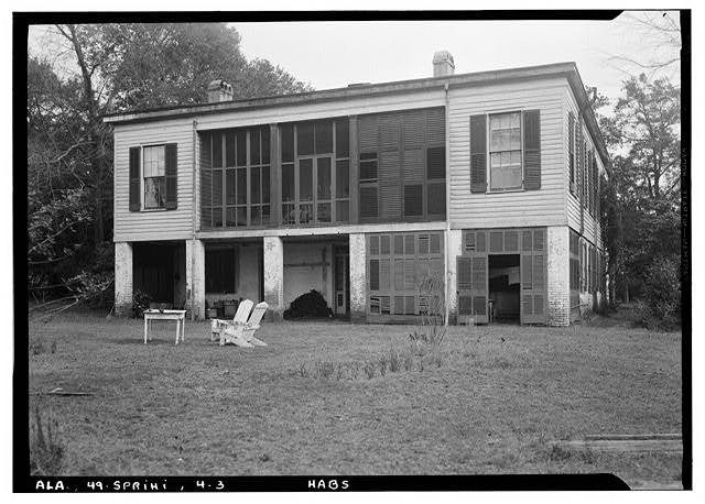 3.  Historic American Buildings Survey E. W. Russell, Photographer, January 14, 1937 REAR ELEVATION (WEST) - Azalea Grove, 55 South McGregor Avenue, Spring Hill, Mobile County, AL
