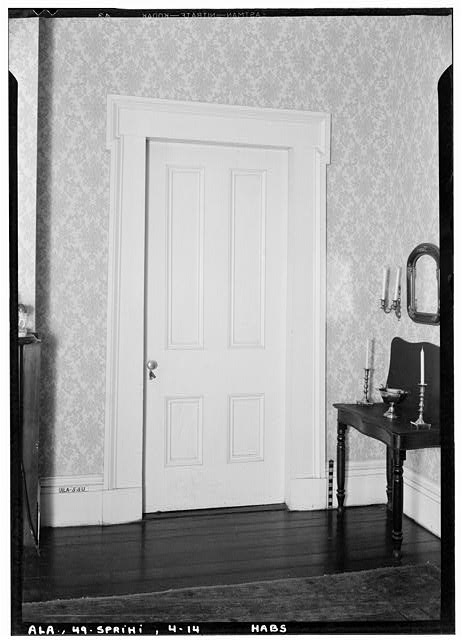 14.  Historic American Buildings Survey E. W. Russell, Photographer, February 16, 1937 ROOM DOOR ON SECOND FLOOR - Azalea Grove, 55 South McGregor Avenue, Spring Hill, Mobile County, AL