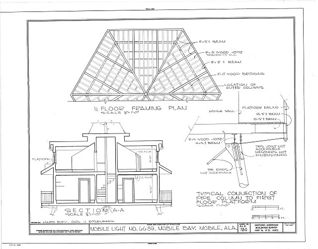 HABS ALA,49-MOBI,116- (sheet 5 of 5) - Mobile Light No. 6639, Mobile Bay, Mobile, Mobile County, AL