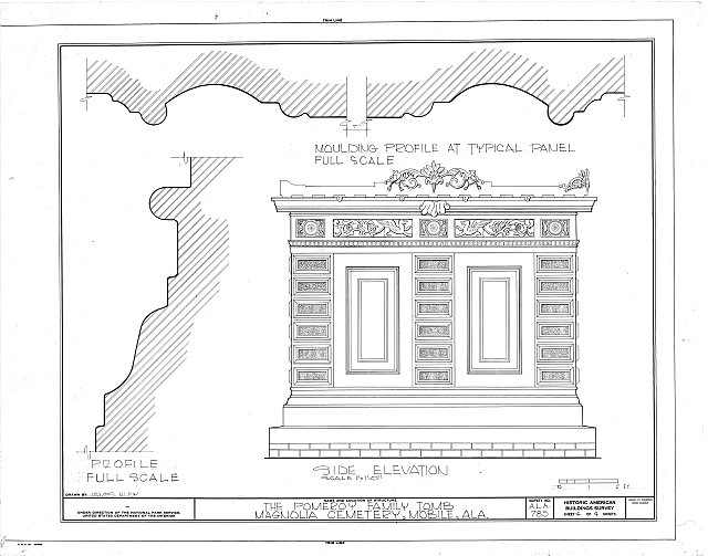 HABS ALA,49-MOBI,118- (sheet 4 of 4) - Pomeroy Family Tomb, Magnolia Cemetery, Virginia Street, Mobile, Mobile County, AL