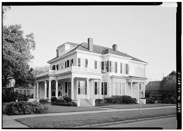 5.  GENERAL VIEW OF NORTH FRONT AND WEST SIDE - Schley-Rutherford House, 1263 Selma Street, Mobile, Mobile County, AL