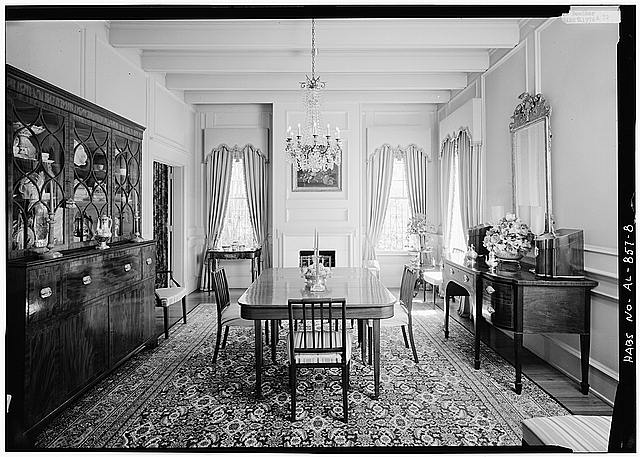8.  INTERIOR, FIRST FLOOR, GENERAL VIEW OF DINING ROOM - Schley-Rutherford House, 1263 Selma Street, Mobile, Mobile County, AL