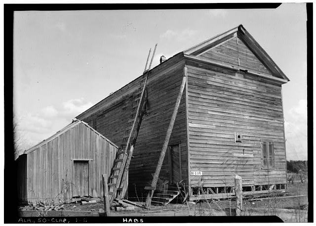 2.  Historic American Buildings Survey W. N. Manning, Photographer. March 6, 1934. REAR VIEW. - SOUTH ELEVATION - Deer's Store, U.S. Highway 84 (State Highway 12), Claiborne, Monroe County, AL