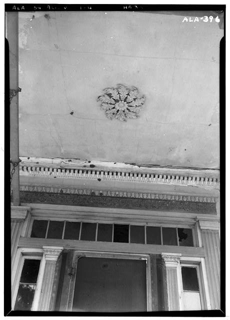 4.  Historic American Buildings Survey Alex Bush, Photographer, June 2 1937 LOOKING UP MAIN ENTRANCE. - Dr. William Hughes House & Outbuildings, Hughes Creek vicinity, Aliceville, Pickens County, AL