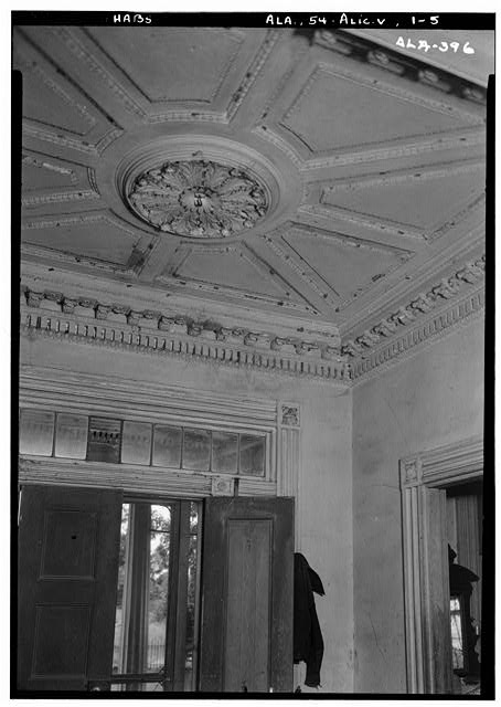 5.  Historic American Buildings Survey Alex Bush, Photographer, June 2, 1937 LOOKING EAST IN HALL. - Dr. William Hughes House & Outbuildings, Hughes Creek vicinity, Aliceville, Pickens County, AL