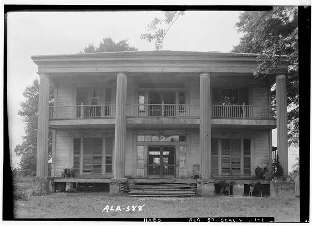 1.  Historic American Buildings Survey W. N. Manning, Photographer, July 18, 1935 FRONT VIEW, SOUTH - Bass-Perry House, U.S. Highway 431, Seale, Russell County, AL