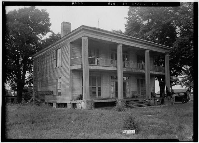 2.  Historic American Buildings Survey W. N. Manning, Photographer, July 18, 1935 FRONT AND SIDE VIEW, S. W. - Bass-Perry House, U.S. Highway 431, Seale, Russell County, AL