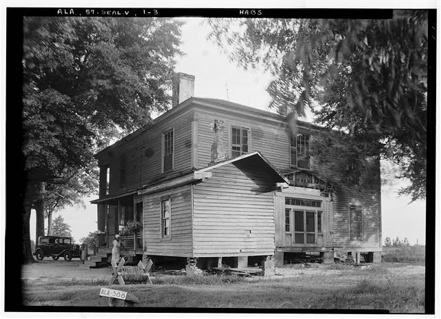 3.  Historic American Buildings Survey W. N. Manning, Photographer, July 18, 1935 REAR AND SIDE VIEW, NORTH EAST - Bass-Perry House, U.S. Highway 431, Seale, Russell County, AL