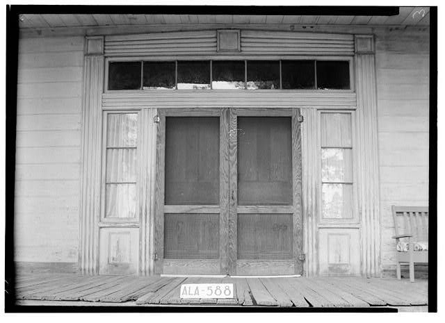 13.  Historic American Buildings Survey W. N. Manning, Photographer, July 18, 1935 CLOSE UP OF FRONT DOOR - Bass-Perry House, U.S. Highway 431, Seale, Russell County, AL