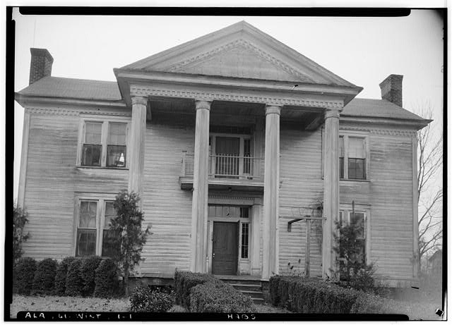 1.  Historic American Buildings Survey Alex Bush, Photographer, February 1, 1937 CLOSE-UP CENTRAL FRONT ELEVATION - Morriss-Holmes House, State Route 76, Winterboro, Talladega County, AL