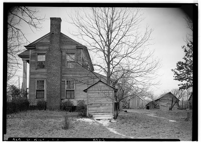 3.  Historic American Buildings Survey Alex Bush, Photographer, February 1, 1937 NORTH ELEVATION - Morriss-Holmes House, State Route 76, Winterboro, Talladega County, AL