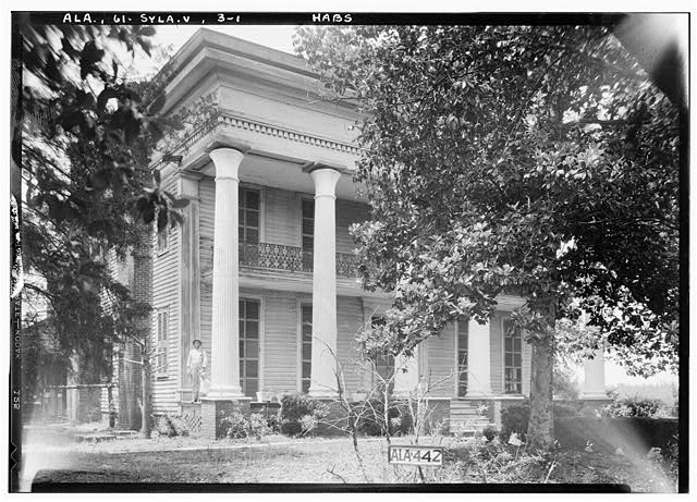 1.  Historic American Buildings Survey Alex Bush, Photographer, May 9, 1935 FRONT AND SIDE VIEW S.E. - Mount Ida, County Road 11, Sylacauga, Talladega County, AL