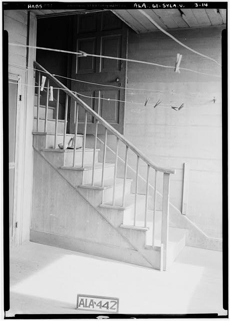 14.  Historic American Buildings Survey Alex Bush, Photographer, May 9, 1935 REAR STAIRS FROM MAIN BUILDING TO BACK PORCH - Mount Ida, County Road 11, Sylacauga, Talladega County, AL